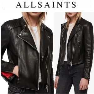 AllSaints Bircham Leather Biker Jacket